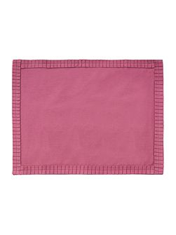Pleats Mulberry Placemats set of 2