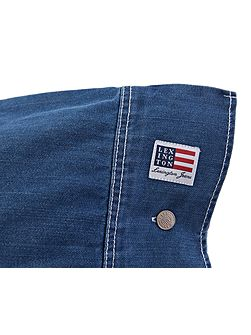 Authentic Jeans Square Pillow Case in Blue