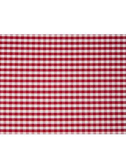 Seaside square pillow case in red check