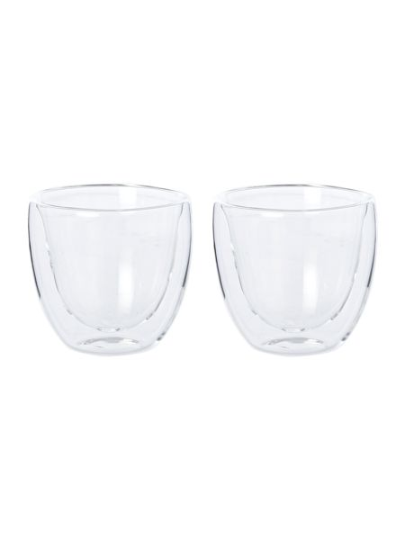 Linea Set of 2 double walled espresso glasses