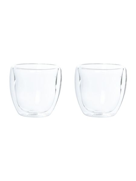Linea Set of 2 double walled cappuccino glasses