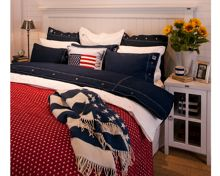 Small Star Bedspread, 160x240, Red