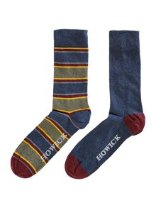 2 pack fig stripe socks