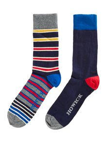 2 pack irregular stripe socks