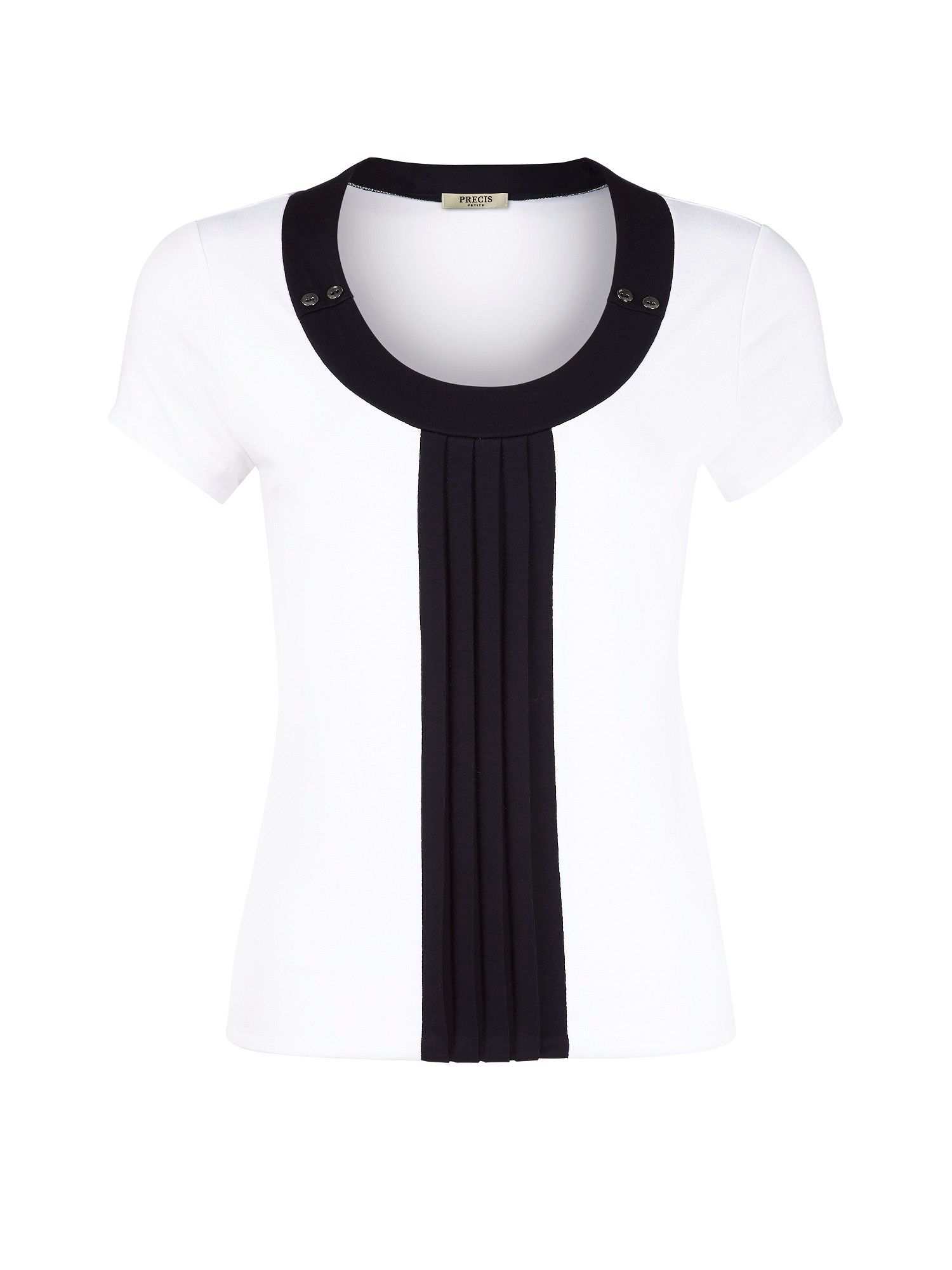 Button and pleat top
