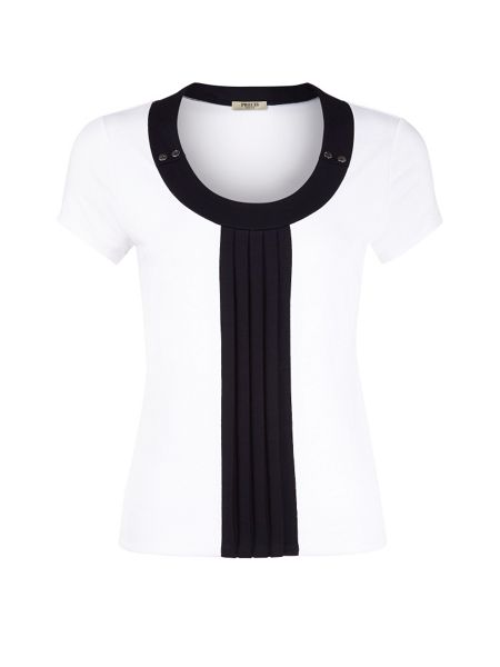 Precis Petite Button and pleat top