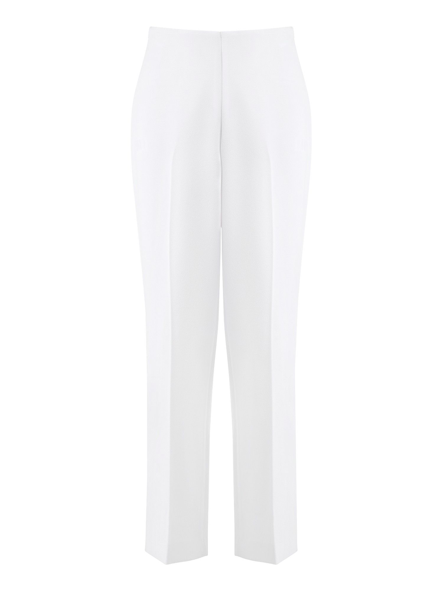 Ivory textured trousers