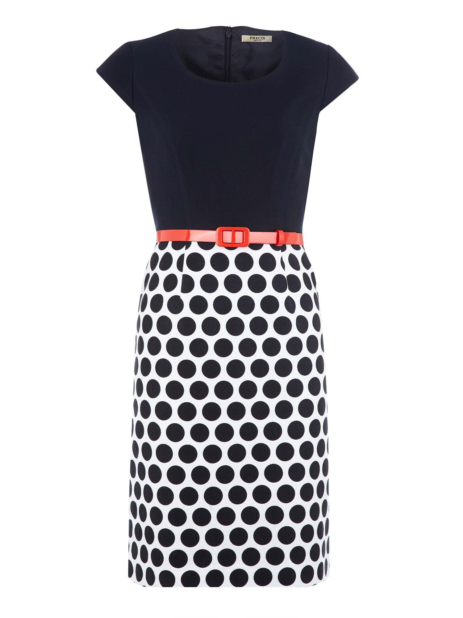 Spot skirt shift dress
