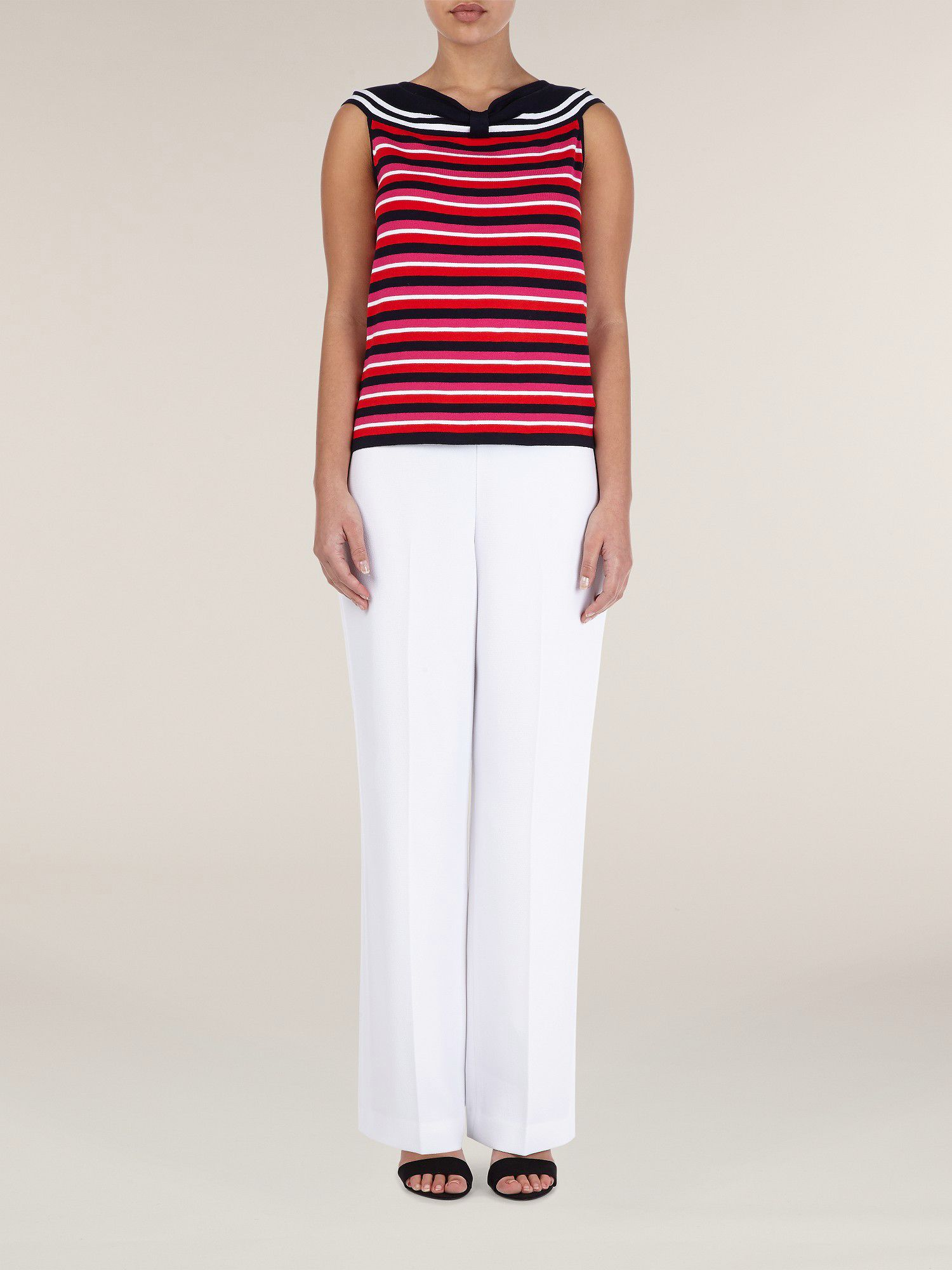 Bardot stripe top