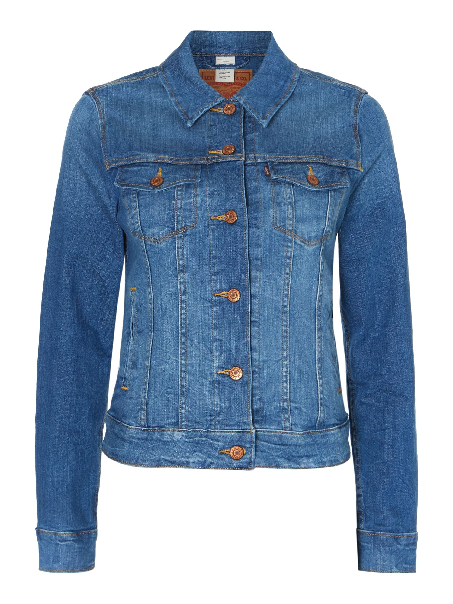 Classic trucker jacket in antique blue