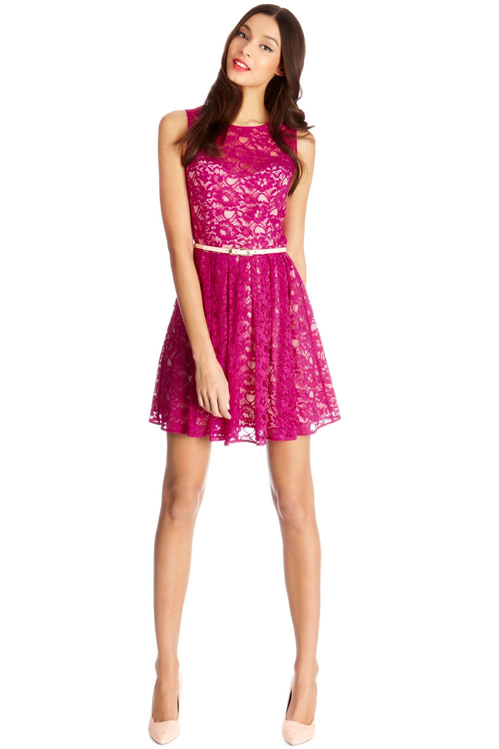 Lorna lace skater dress