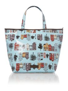 Zip top canvas tote