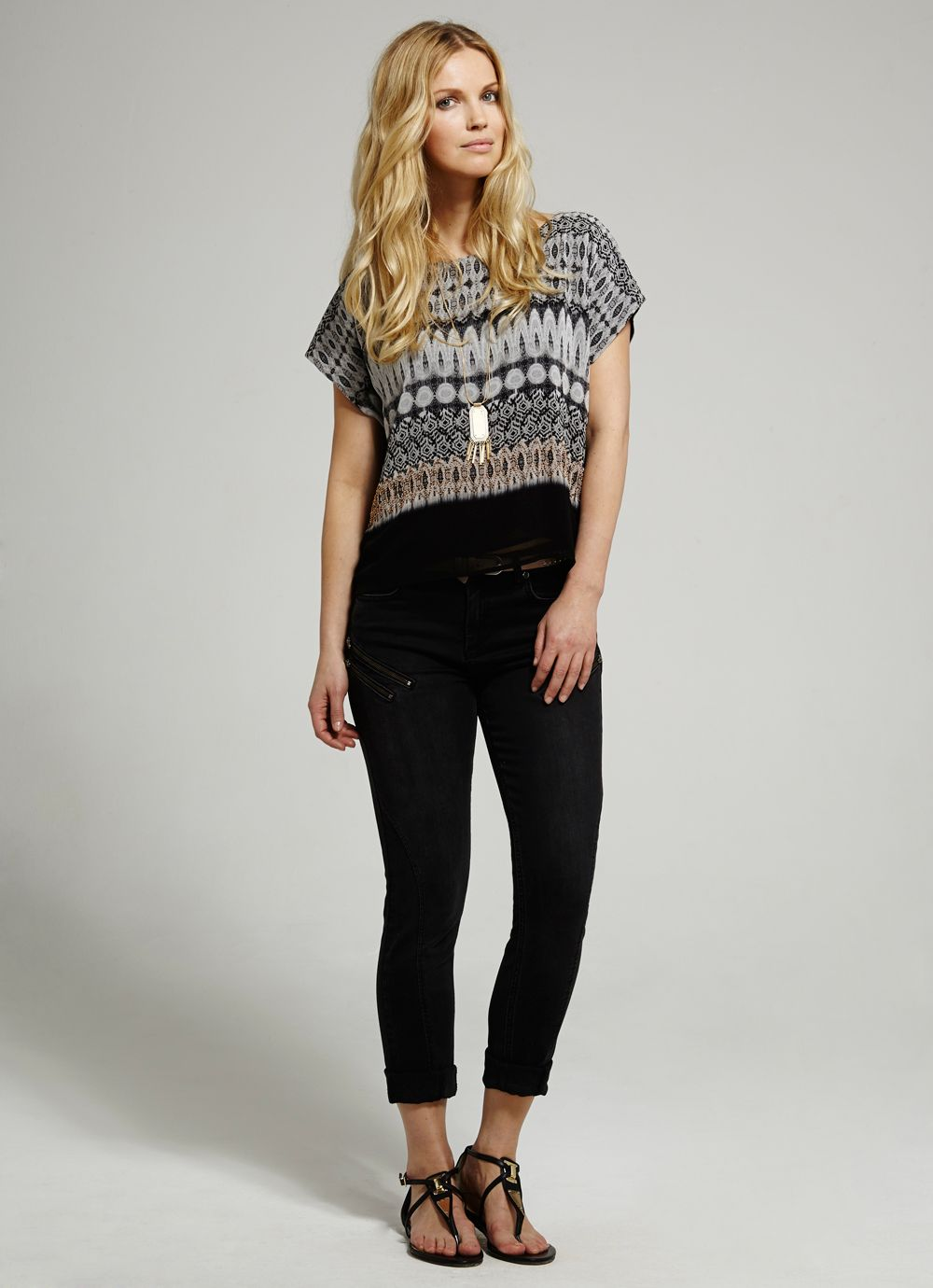 Roux Print Crop Top