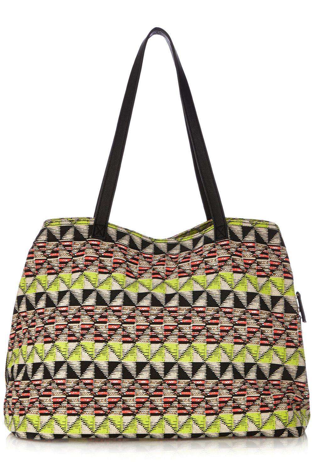 Zip round canvas shopper