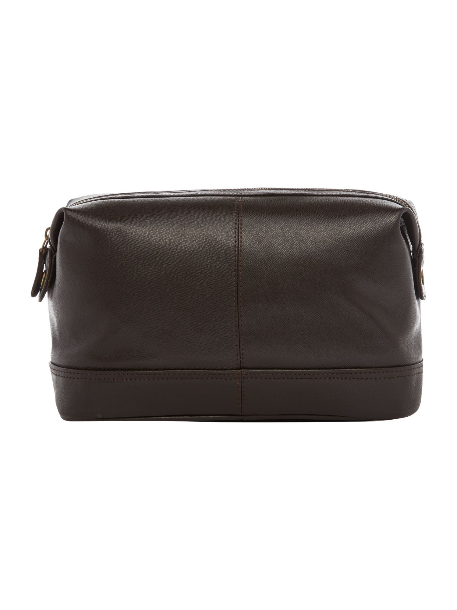 Saffiano leather wash bag