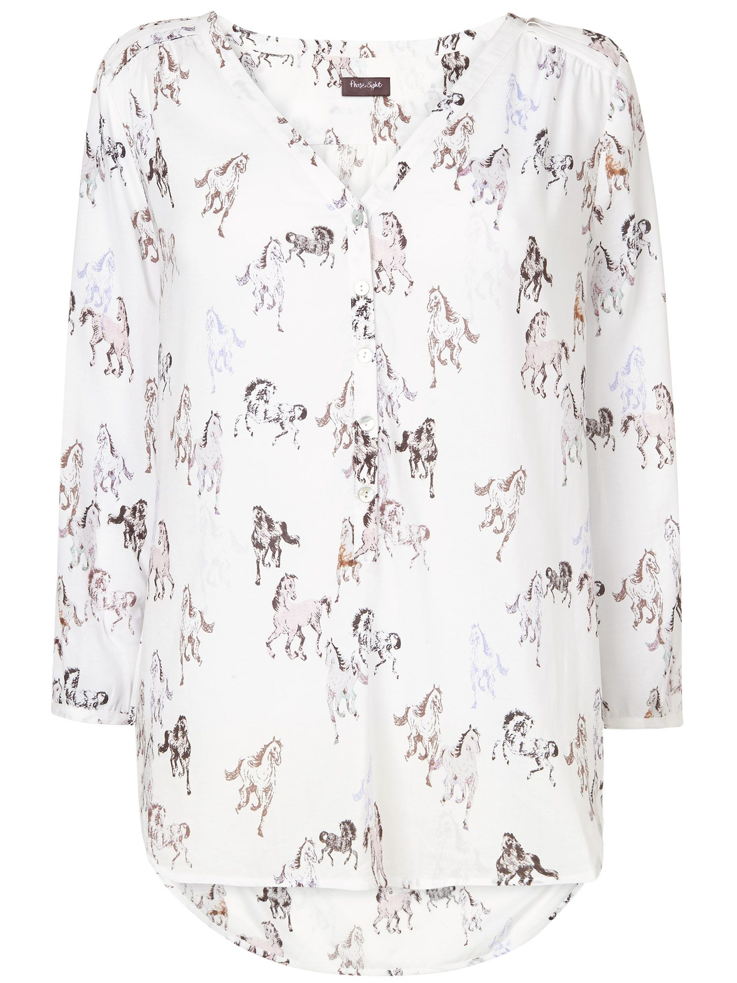 Clarrie horse print blouse