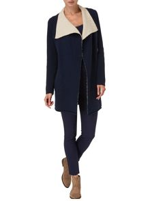 Dee double faced knit coat