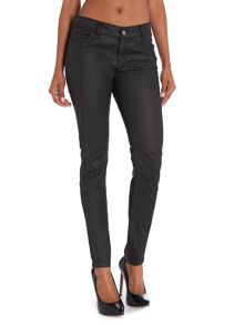 Frida Wet Look Cotton Panelled Jeans