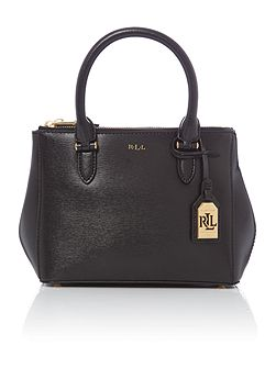 Lauren Ralph Lauren Newbury mini black zip tote