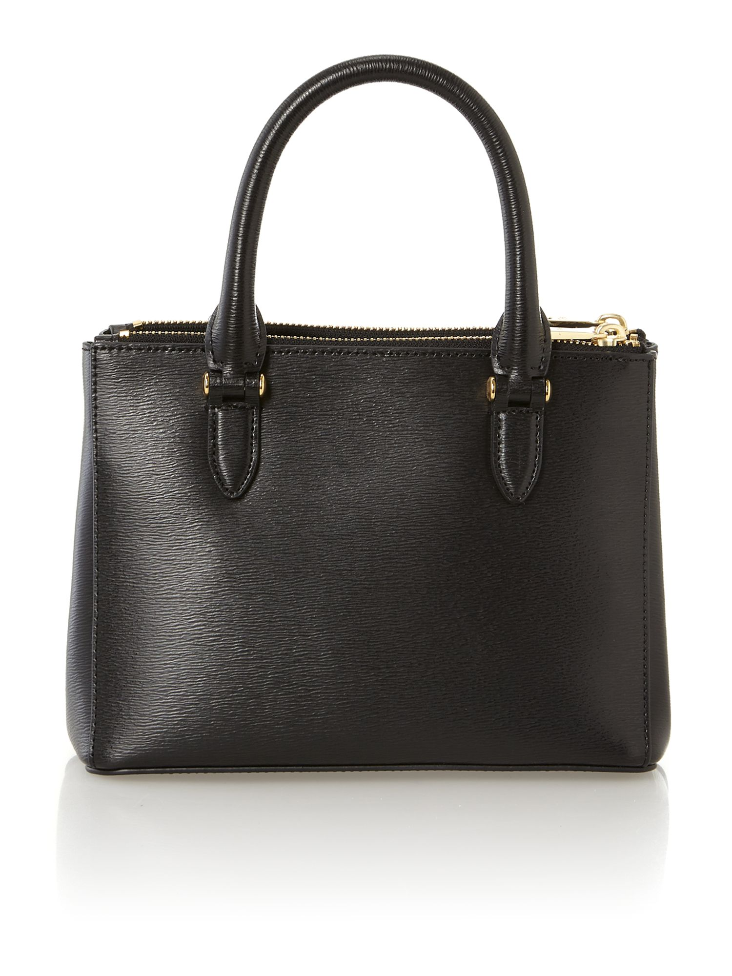 Newbury mini black zip tote bag
