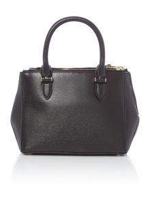 Lauren Ralph Lauren Newbury mini black zip tote bag
