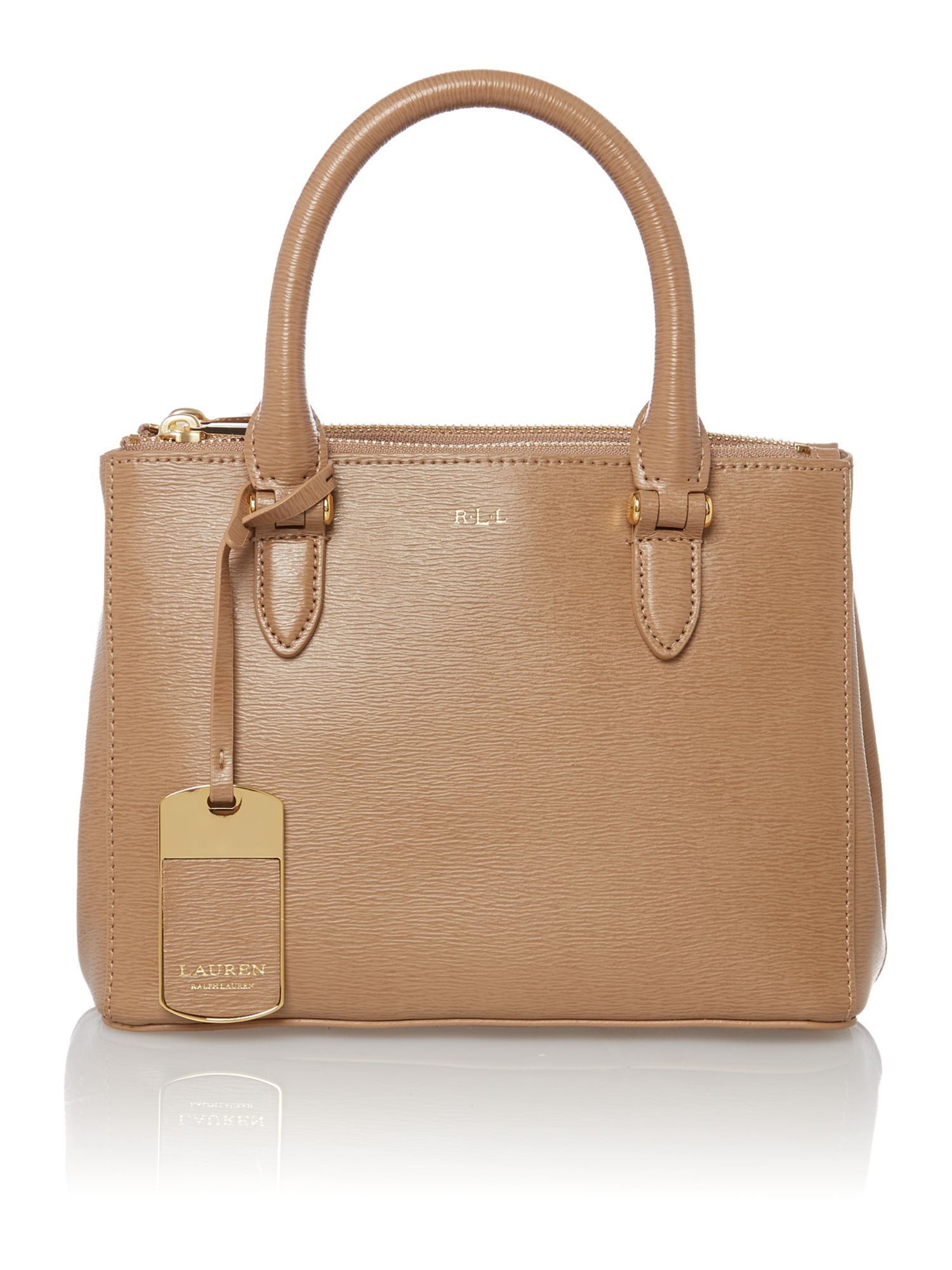Newbury mini neutral zip tote bag