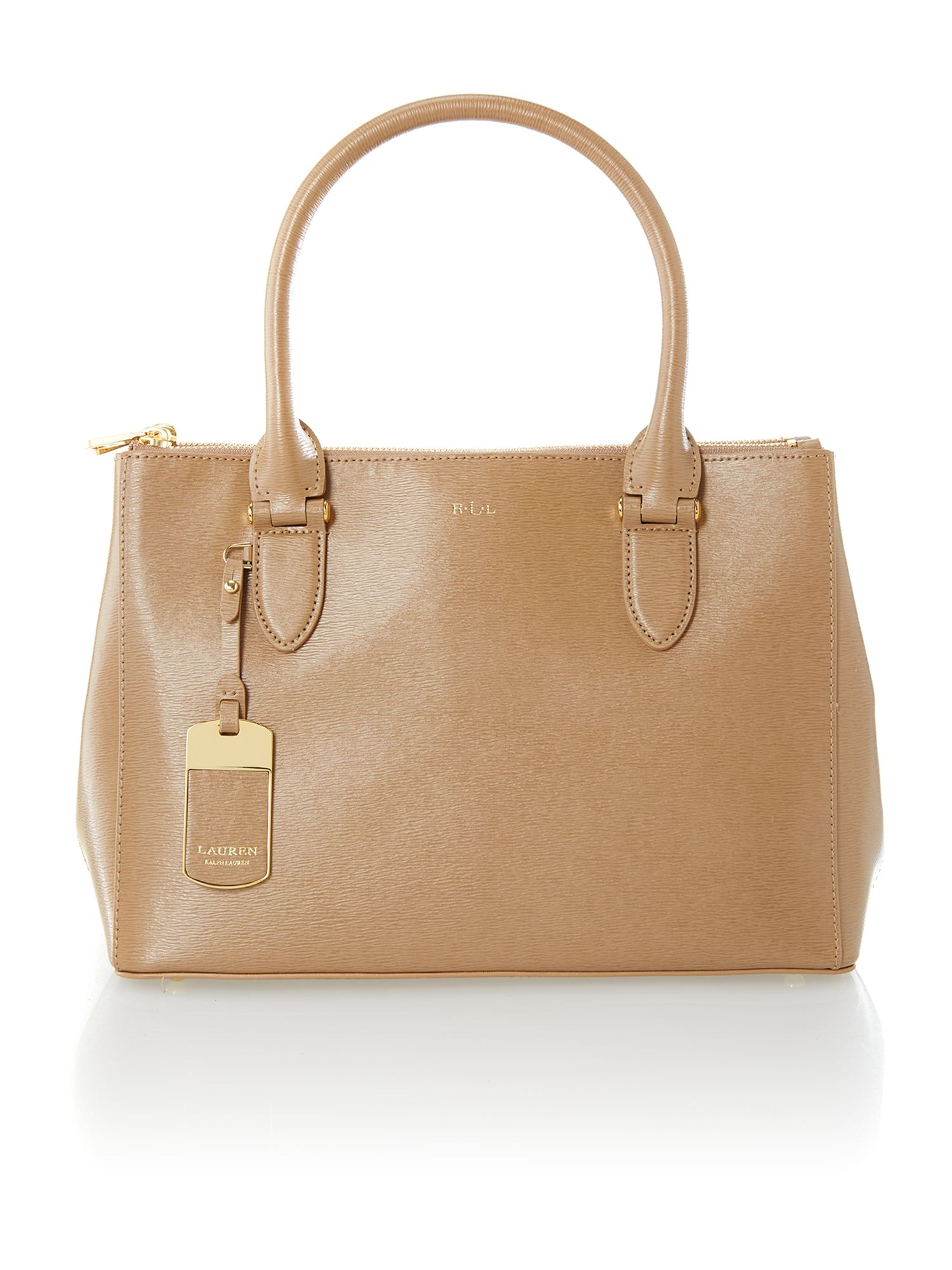 Newbury medium neutral zip tote bag