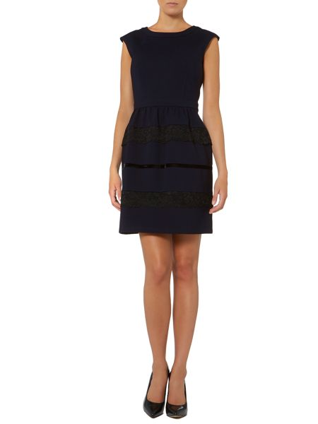 Untold Jersey fit and flare dress with contast panels