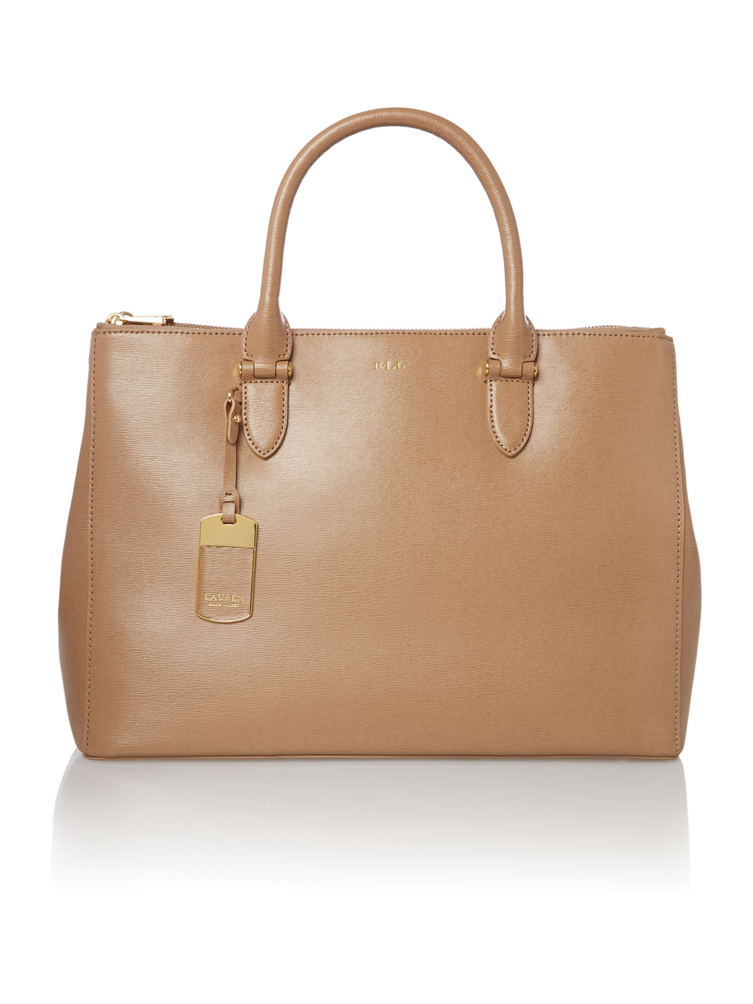 Newbury large neutral zip tote bag