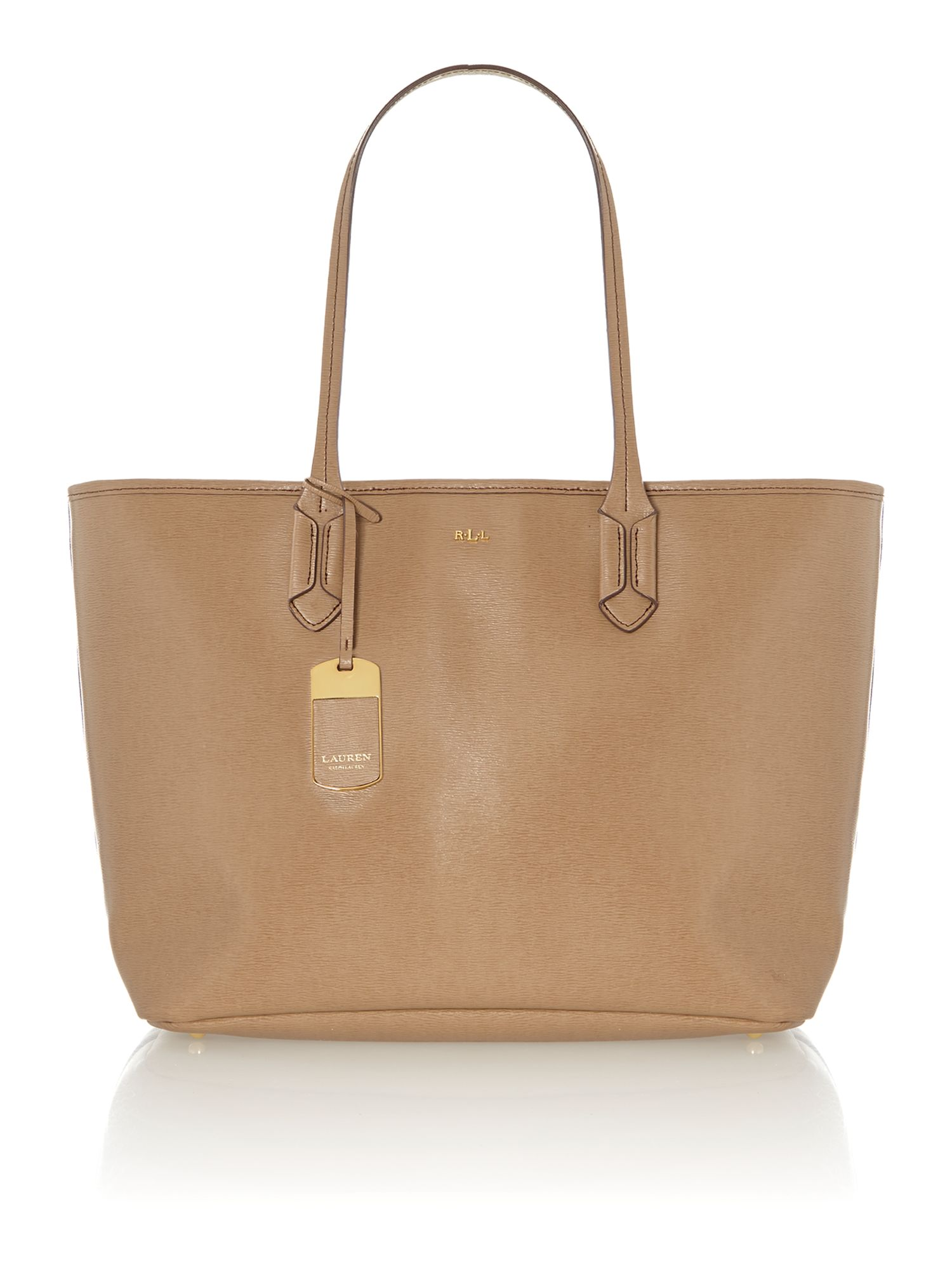 Tate neutral large tote bag