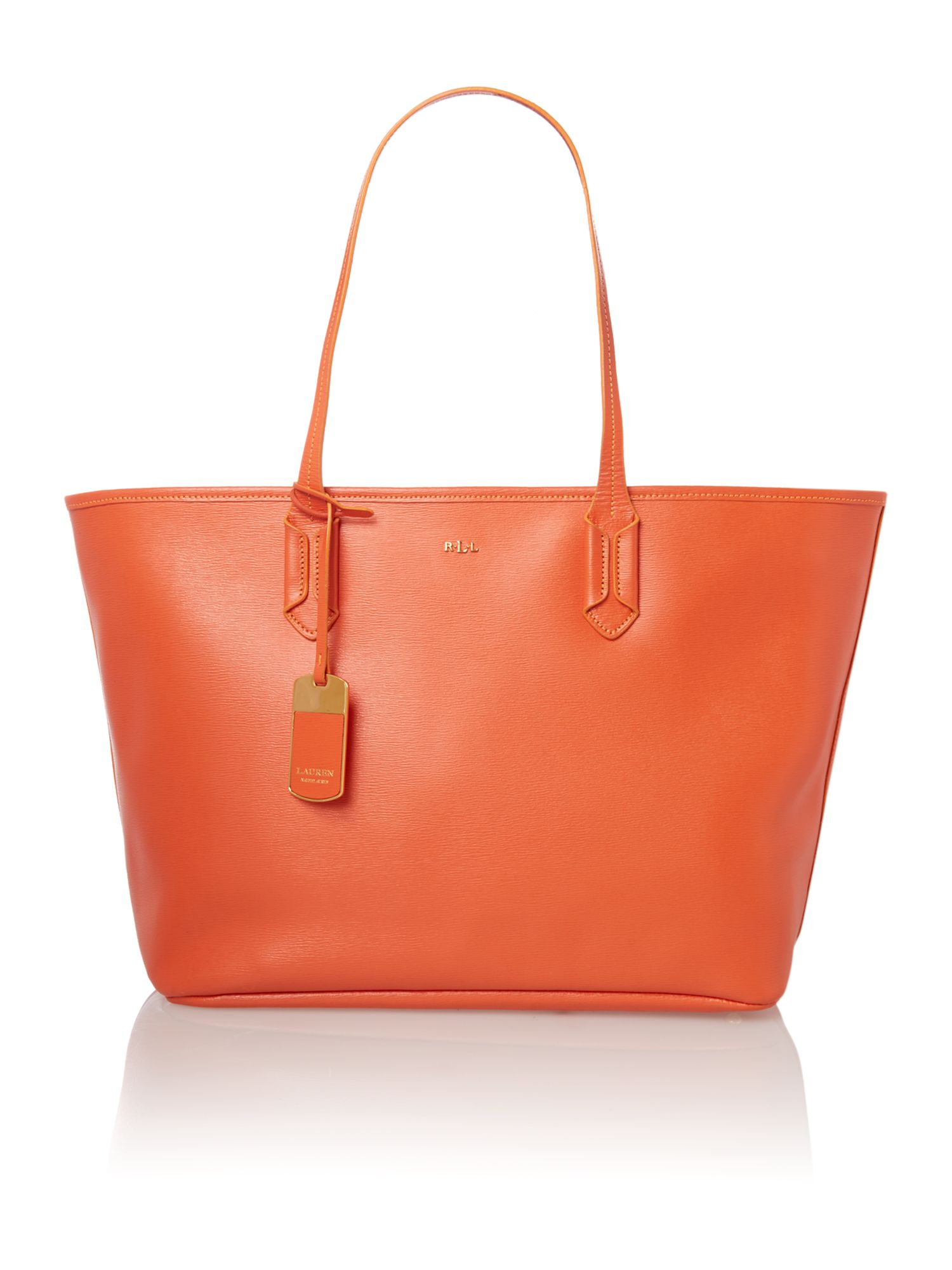 Tate orange large tote bag