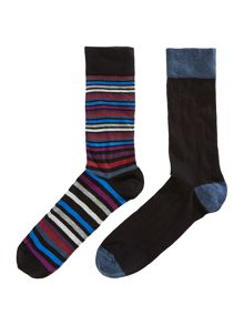 2 pack multistripe socks