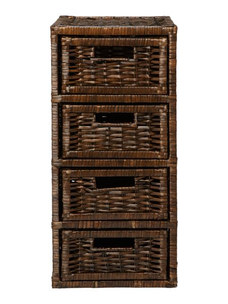 Shabby Chic Wicker storage unit