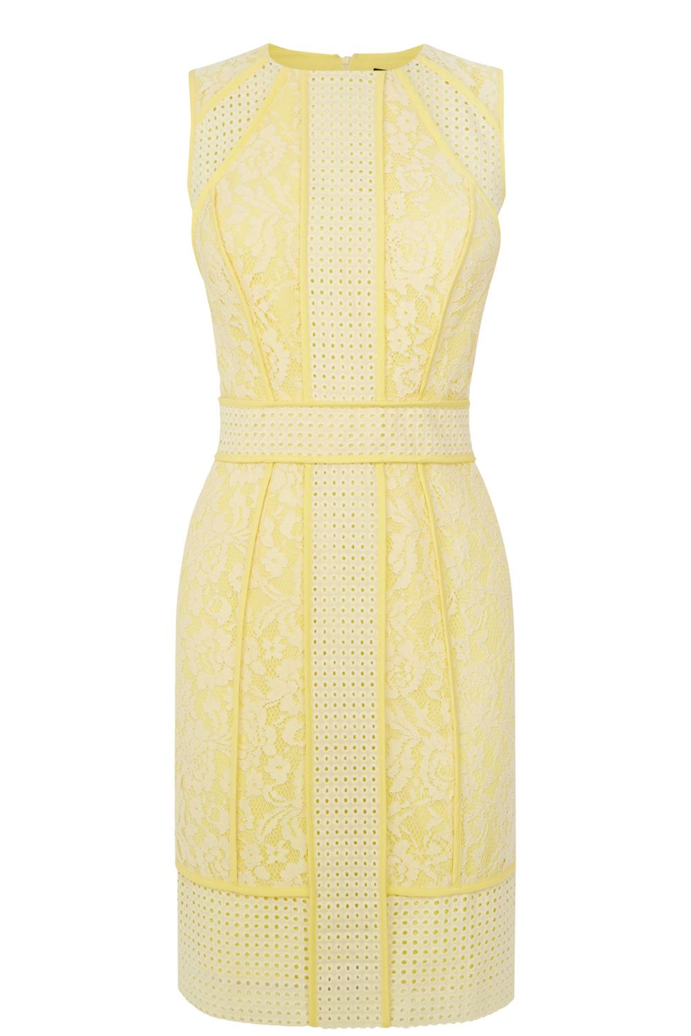 Panelled broderie lace dress