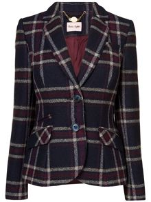 Esther large check riding jacket