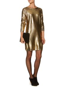 Gold jumper dress