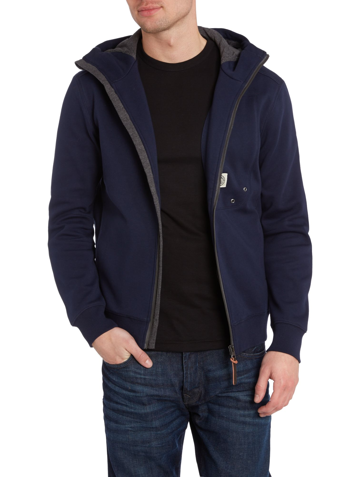 Hutton-v2 fleece zip up hoody cardigan