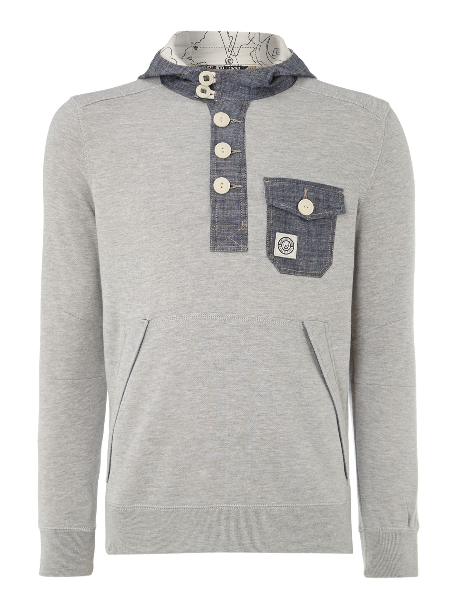 Hodor half placket hoody