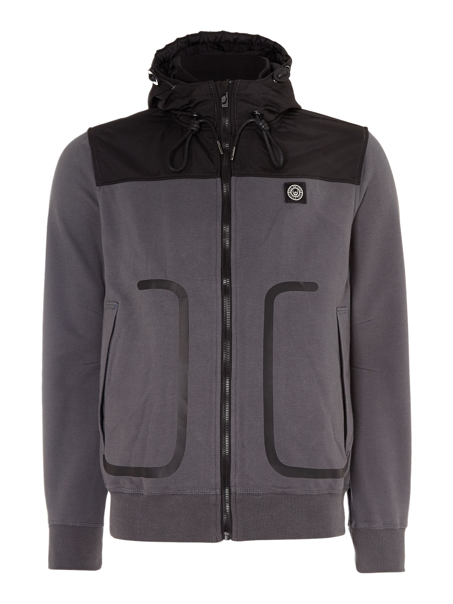 Sandor technical pique zip up hoody