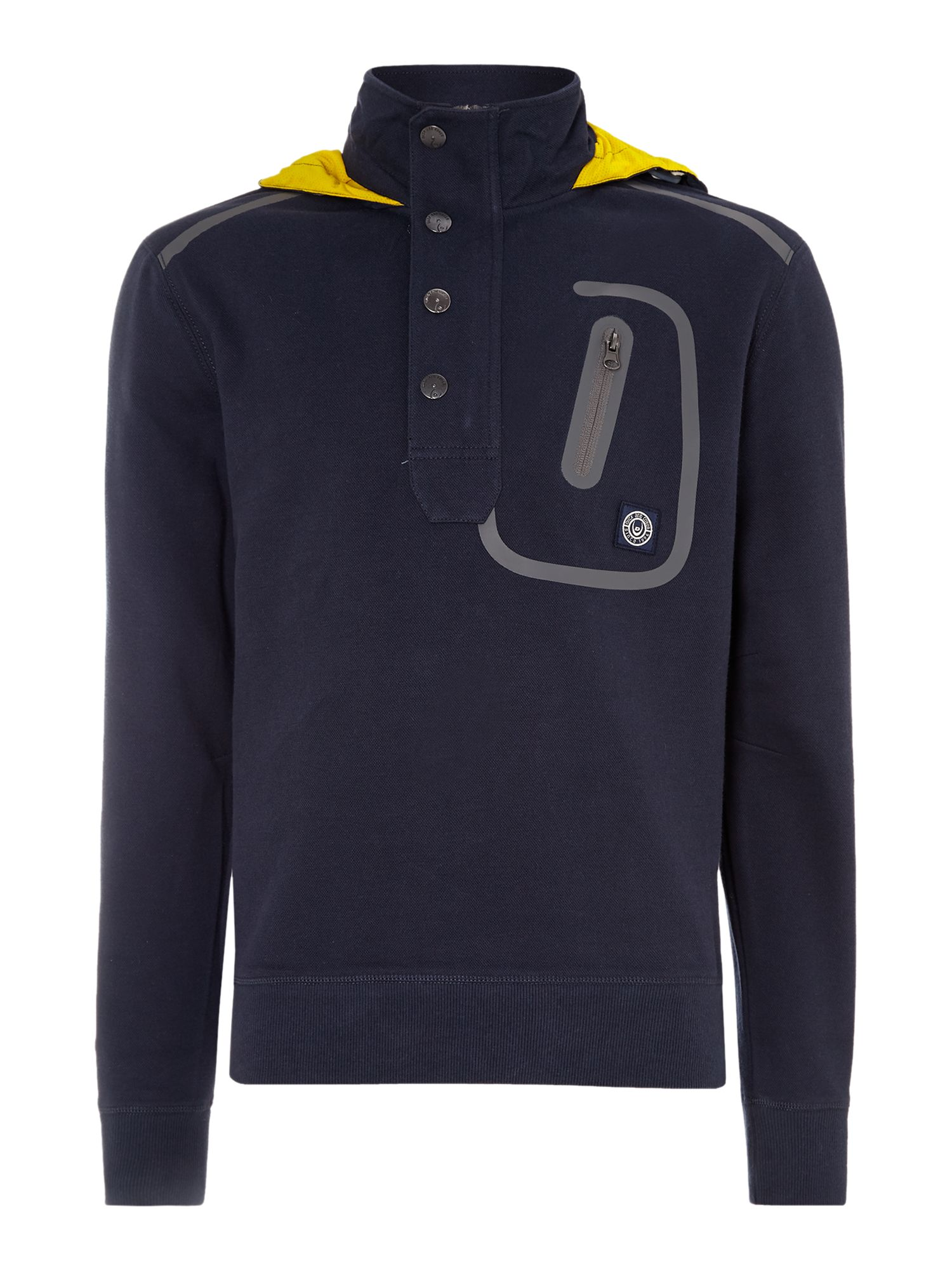 Clegane technical pique half placket hoody