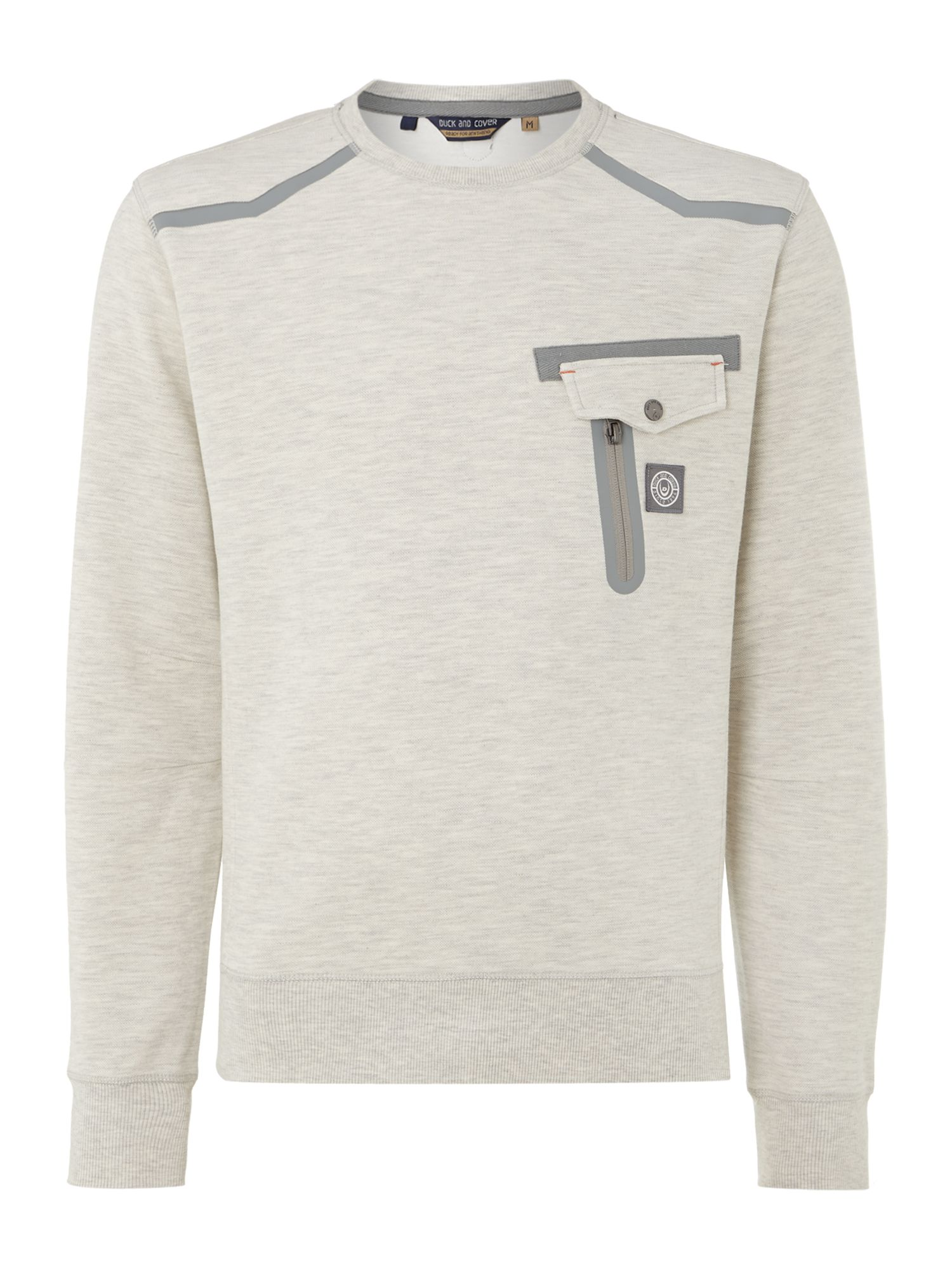 Luwin technical pique crew neck sweatshirt