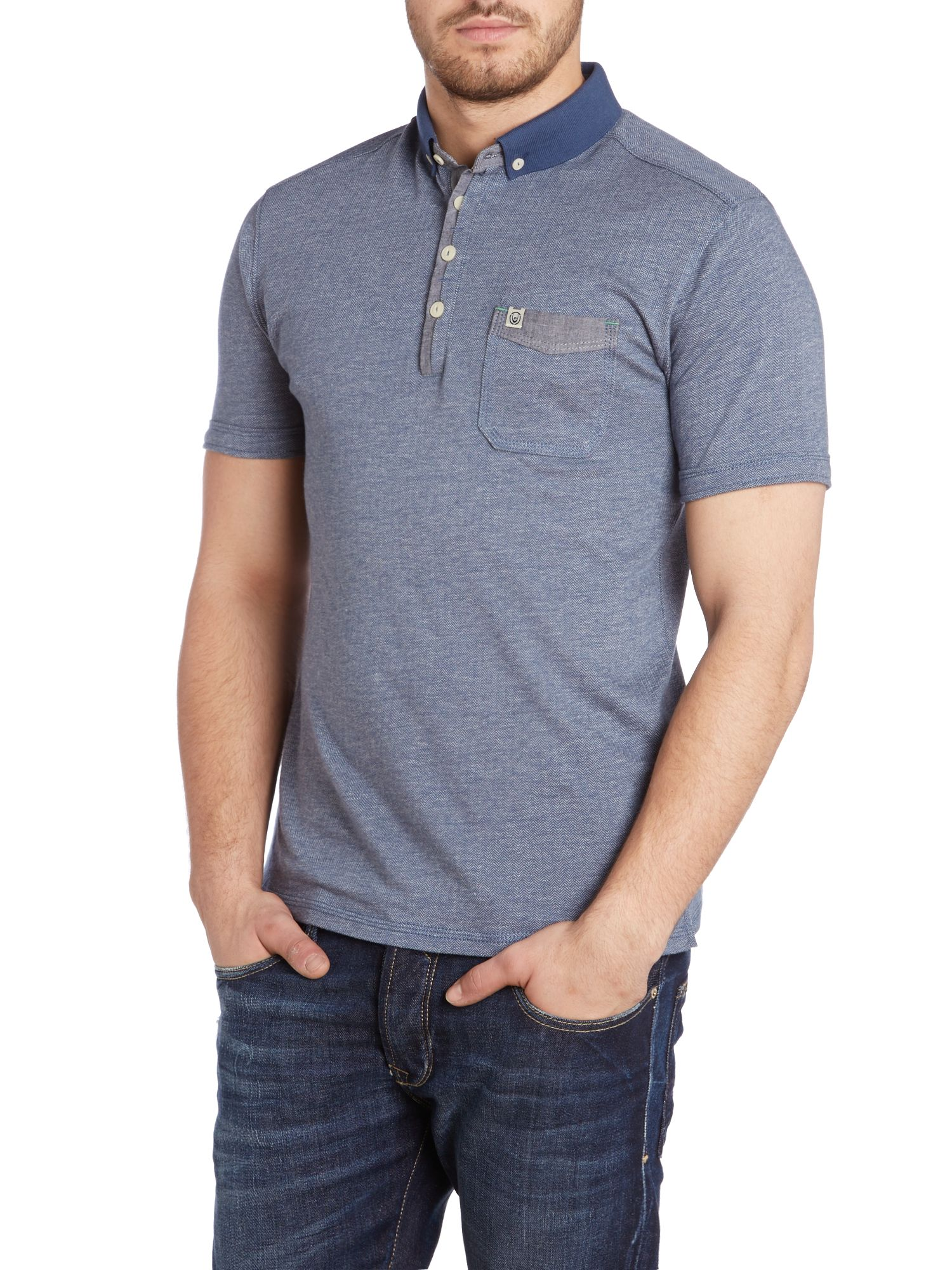 Gervais herringbone polo shirt