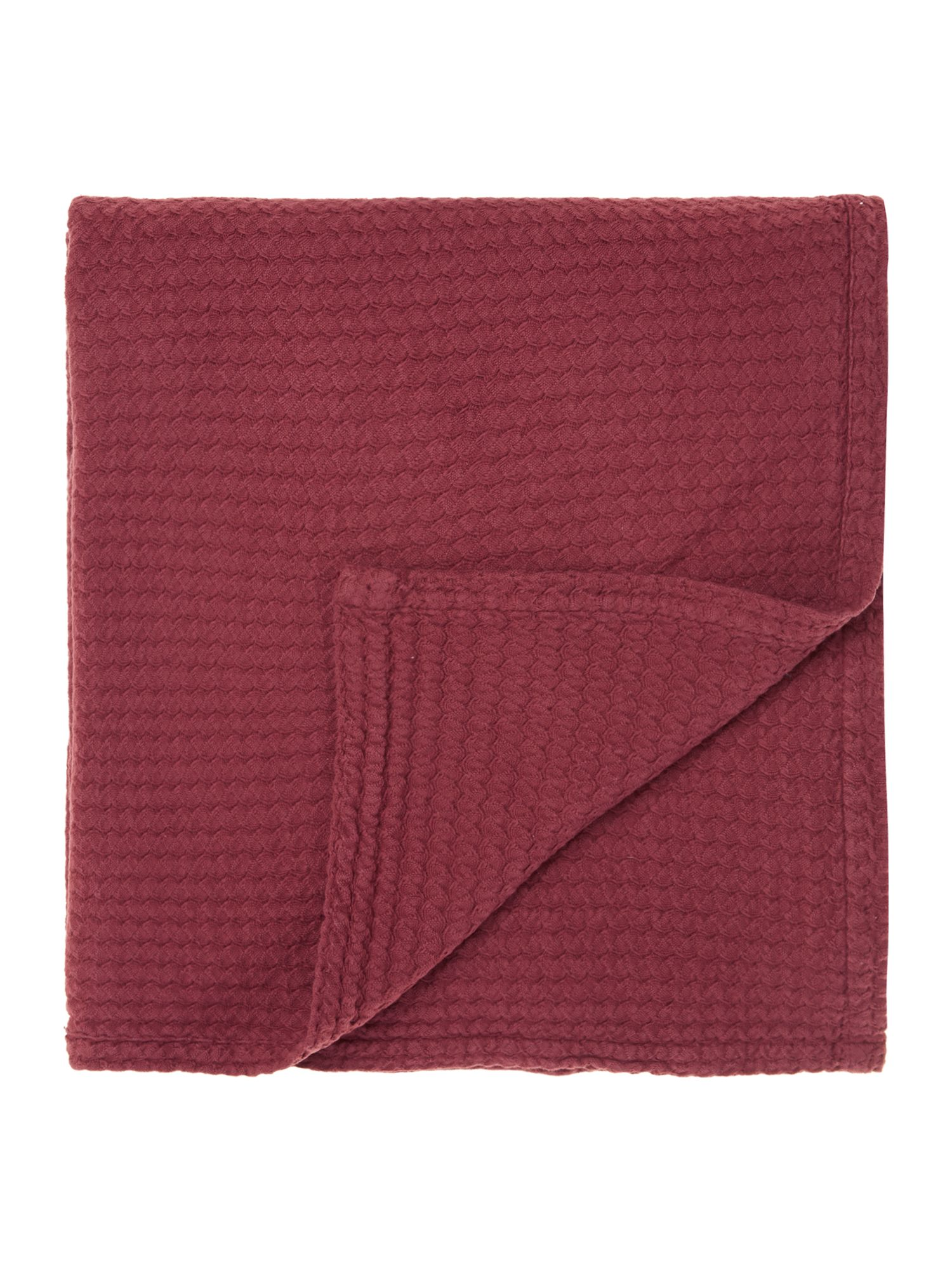 Bramble deep red bedspread