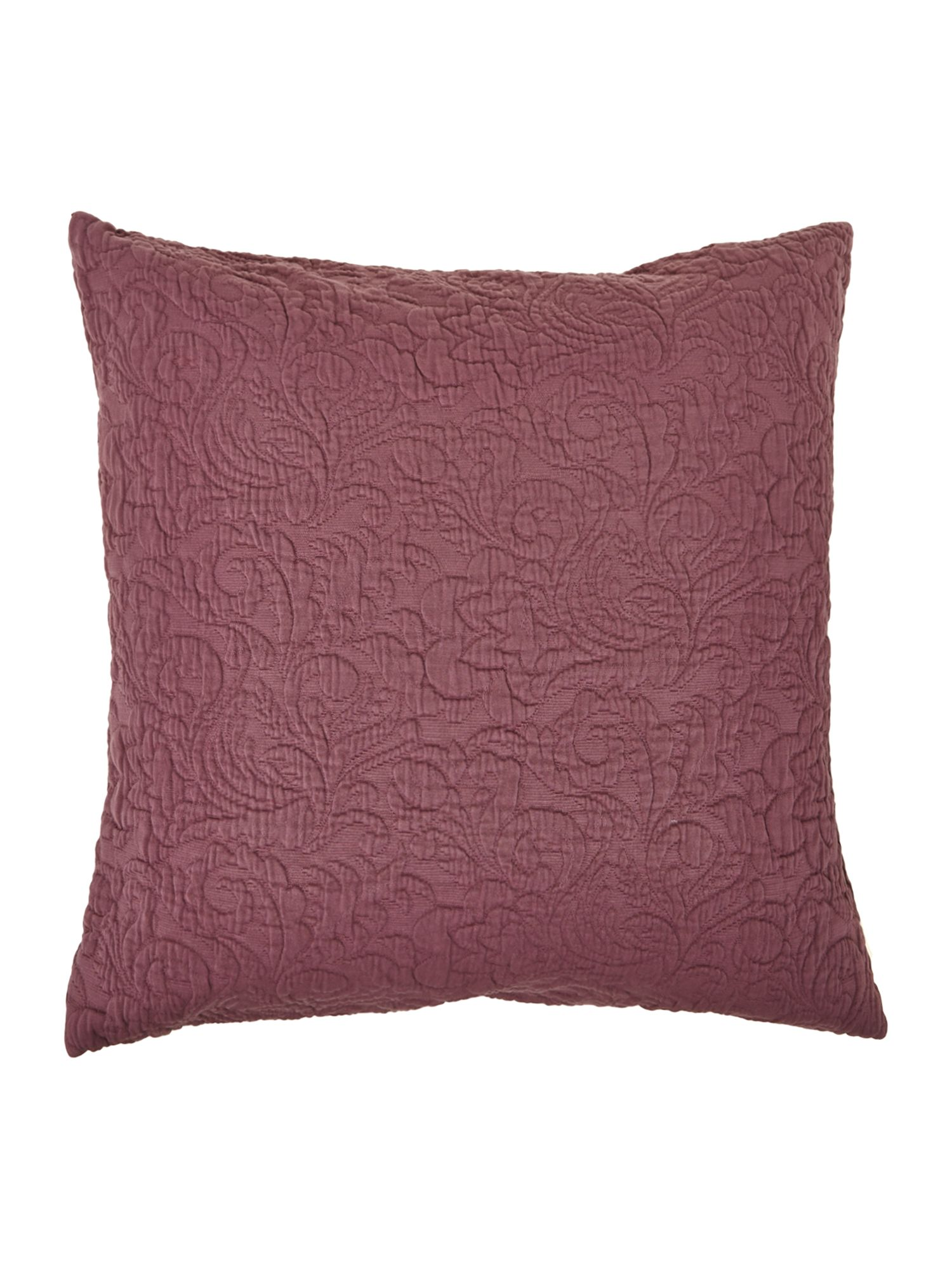 Purple matalasse cushion