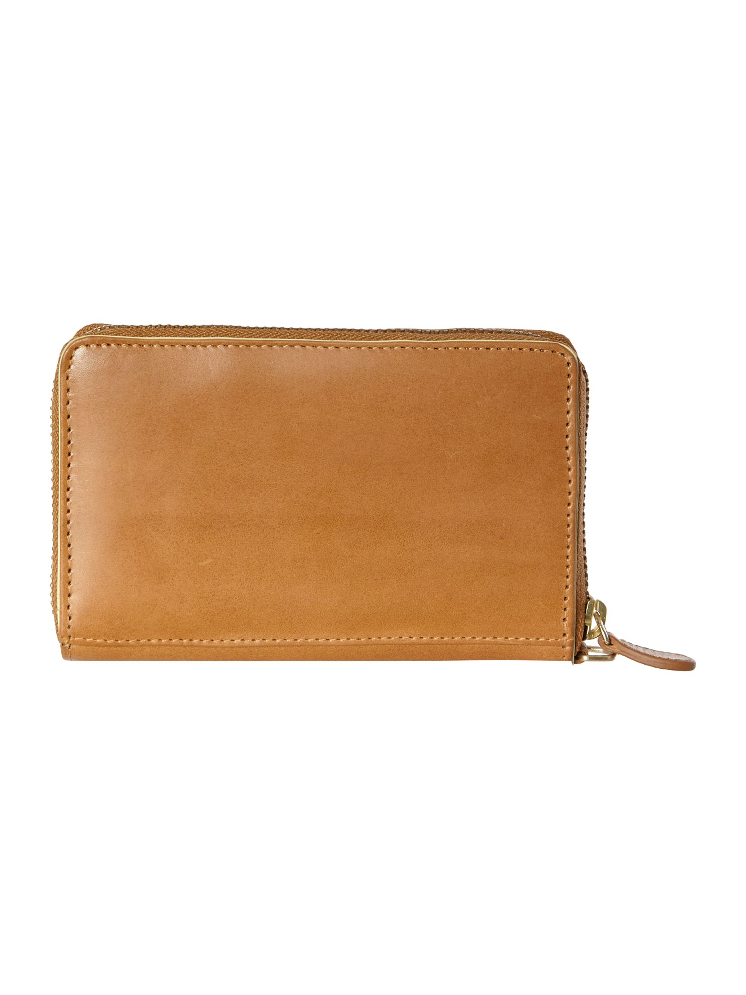 Blair tan medium zip wristlet