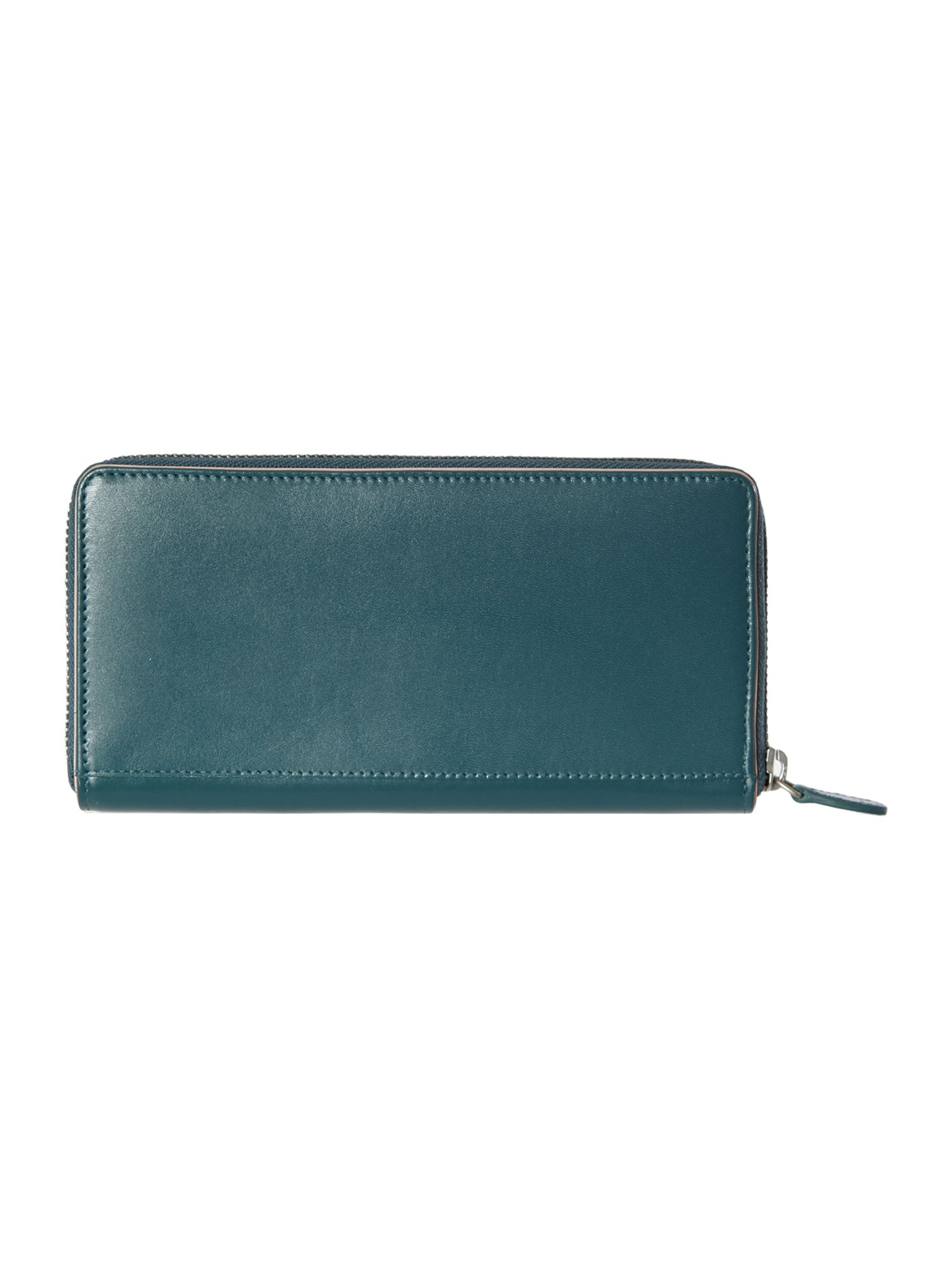 Blair blue large zip around matinee purse