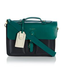 Ted Baker Colour block leather satchel bag