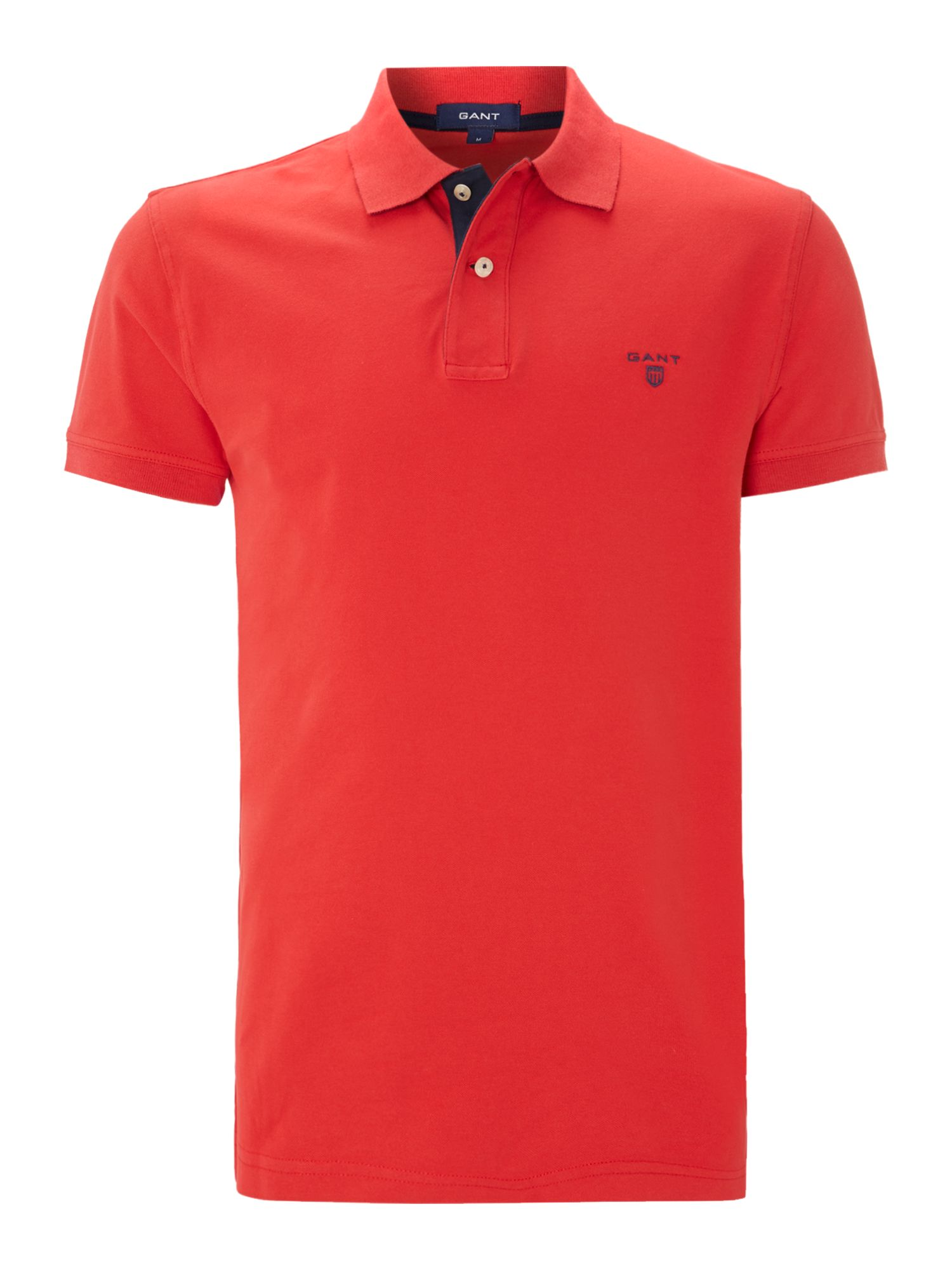 Pique short sleeve polo shirt
