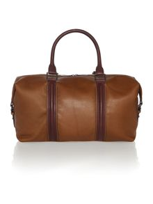 Formal leather holdall bag