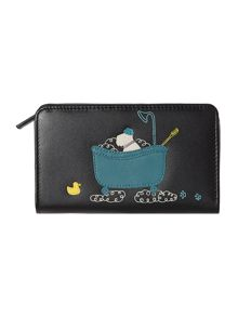 Bubble trouble black medium zip around purse